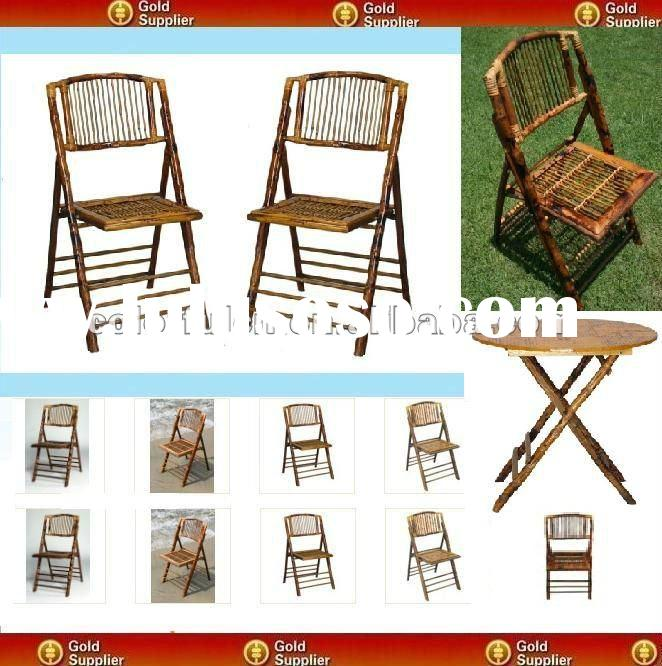 Popular Folding Bamboo Chair And Table