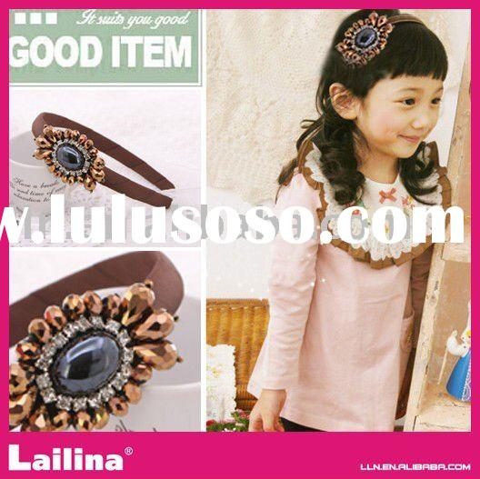 Popular children's palace style hair bands / beaded Hair Accessories