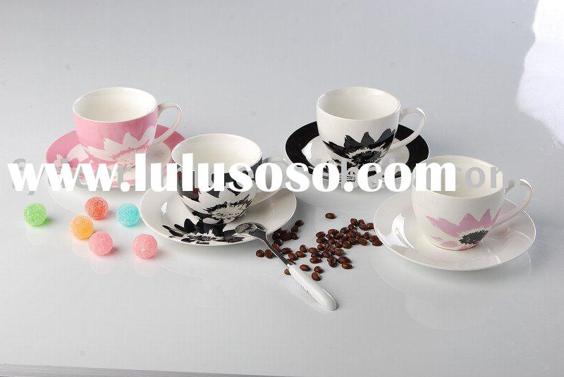 Porcelain coffee cup set