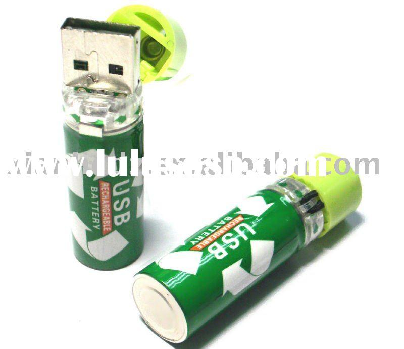 Portable 1.2 V AA size rechargeable usb lithium battery