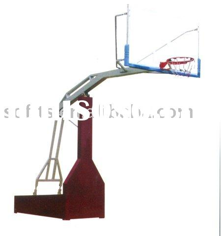 Portable Basketball System Imitated Hydraulic Pressure Adjustable Basketball Stand with Basketball B