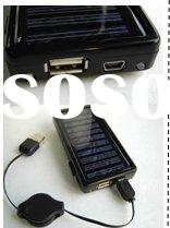 Portable USB Solar Charger with detachable lithium battery inside