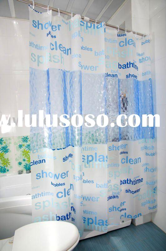 Printed Shower curtain liner,Clear Bathroom curtain
