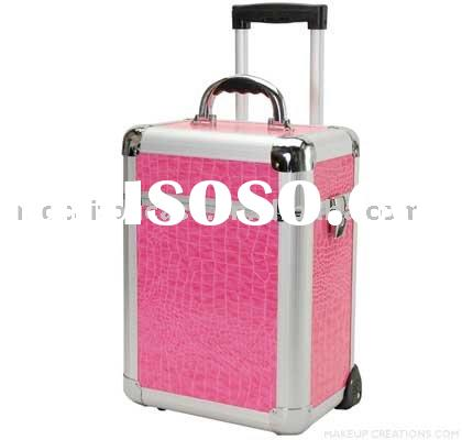 Professional Pink Alligator Makeup Artist Case