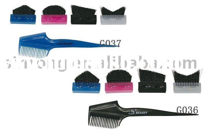Professional salon use plastic hair dyeing combs&brush