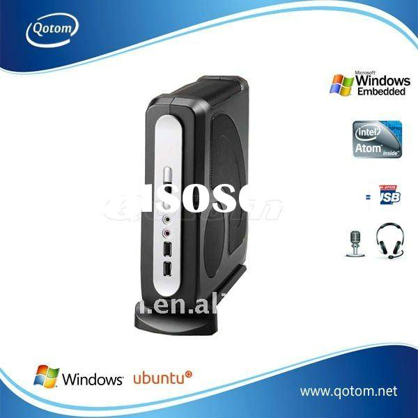 QOTOM-T52 Intel atom mini desktop pc, mini fanless desktop pc, power supply mini desktop pc, intel a
