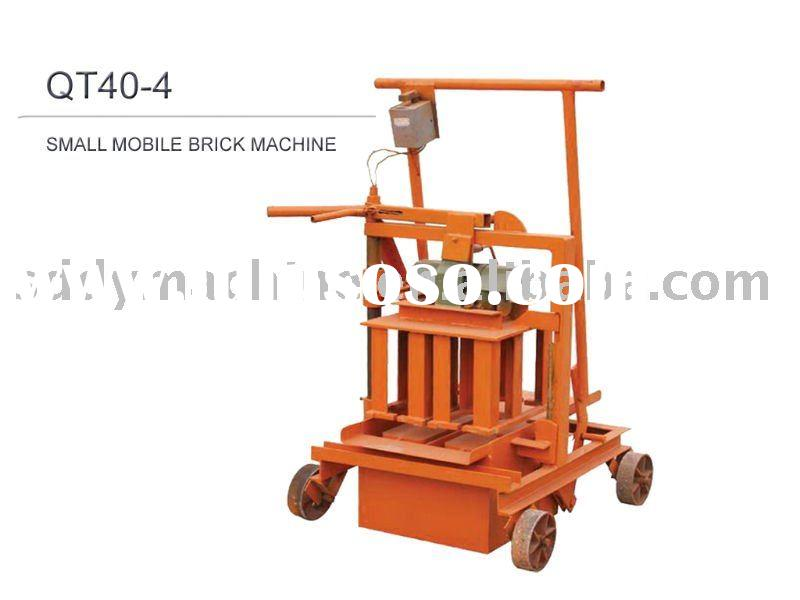 QT40-4 Small Mobile Block/Brick Making Machine/Machinery