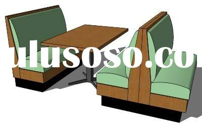 Quality modern Restaurant Booth Sofa and Table Furniture THH-015