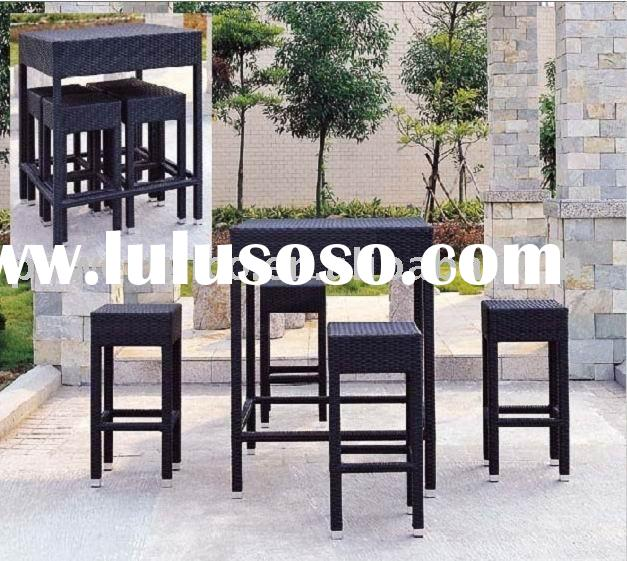 Rattan/Wicker bar bench bar stool bar set - Rattan/Wicker bar furniture set
