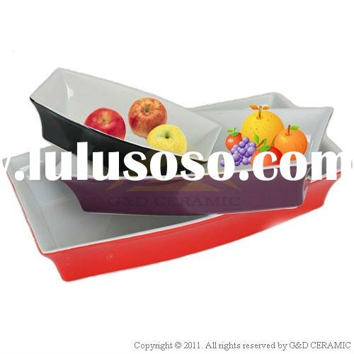Rectangular Ceramic Bakeware Set,Baking Dish
