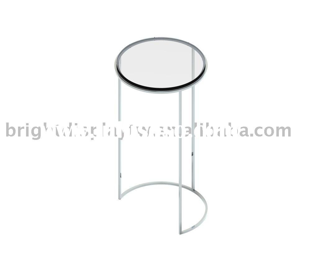 Round acrylic display table