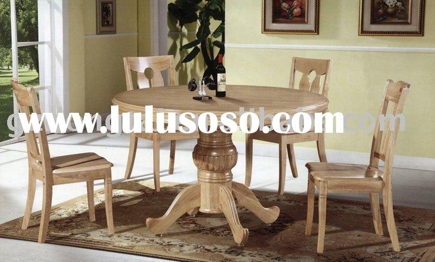 Round dining table D103 with 4 chairs