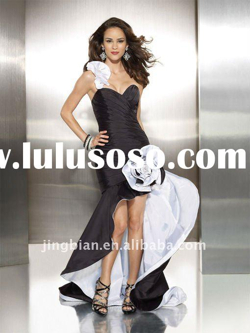 Ruffled One shoulder Fashion Dress 2012 Special Design Prom Dresses Unique Dresses Evening Party Dre