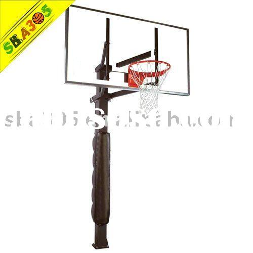 SBA 88880G In-Ground Basketball Hoop with 72 Inch Glass Backboard