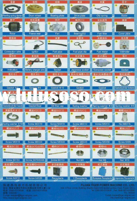 SPARE PARTS FOR GENERATOR