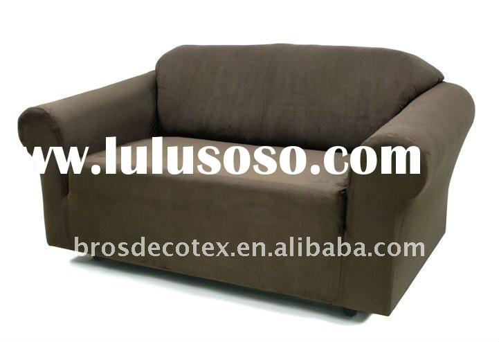 STRETCH SUEDE SOFA SLIPCOVER (fitted sofa furniture cover with elastic bottom)