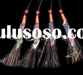 Sabiki rigs, Snelled Hook,Fishing rigs, Flasher Rig