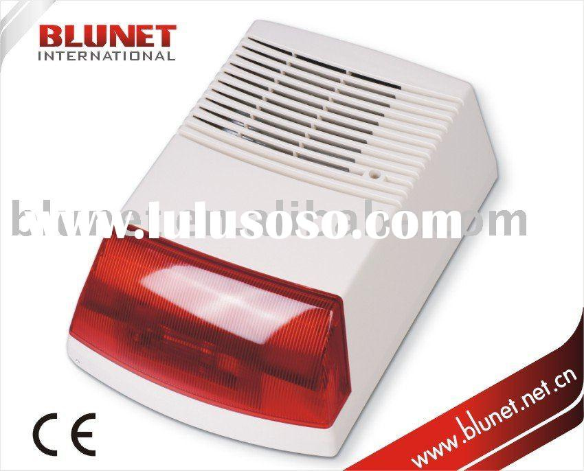 Security Outdoor Siren Exterior Alarm with Strobe Bell Box EAS-190B