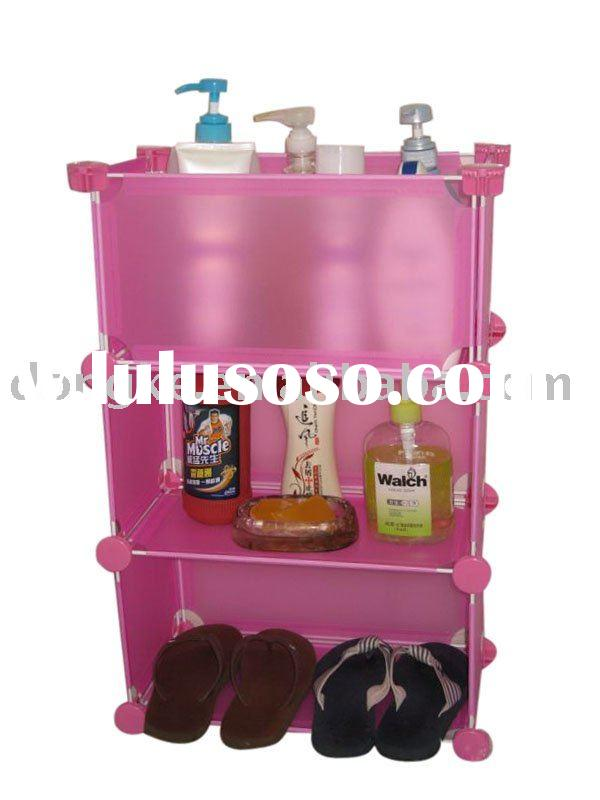 Sell plastic bathroom cabinet,bathroom vanity,plastic DIY storage racks