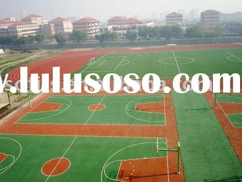 Shock-Absorption Rubber Basketball Court With PU Coating,Outdoor Basketball Court Floor Mat