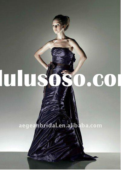 Silky taffeta mermaid 2011 prom dresses detachable tail supplier En2518