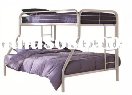 Silver Twin Over Full Metal Bunk Bed