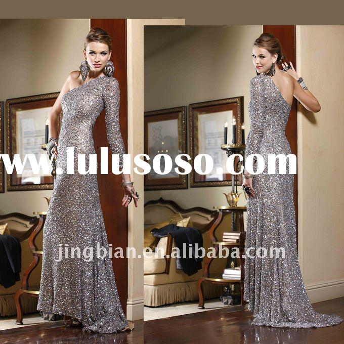 Single long sleeve prom dress Hot sell fashion party dress latest design evening dress 2012 SC222