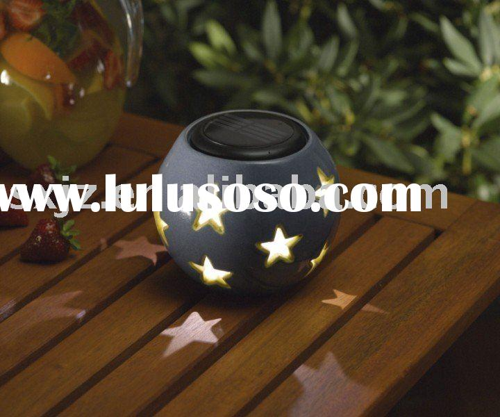 Smart Solar Blue Ceramic Solar Sphere Light,new solar garden light, ceramic solar light, cheap solar