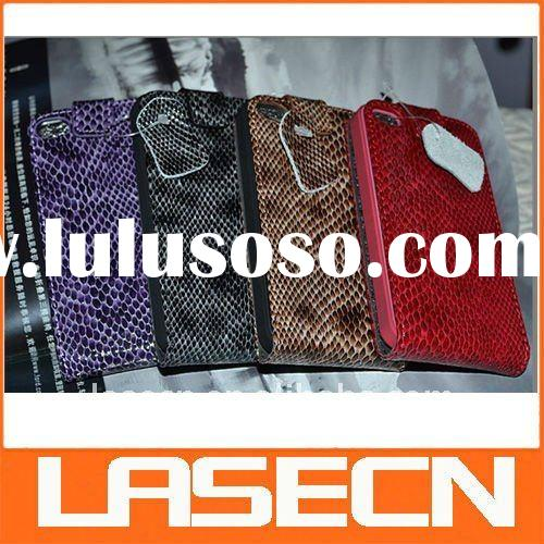 Snake skin Flip Case Cover for iPhone 4 and Skin