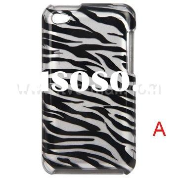 Snap-on Colorful Striped Pattern Hard Plastic Case for iPod Touch 4