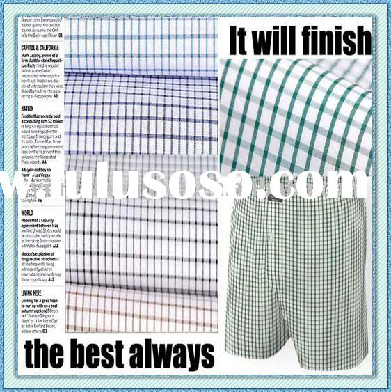 Spot Supply -------- 100%Cotton Yarn Dyed Fabric for Boxer Shorts
