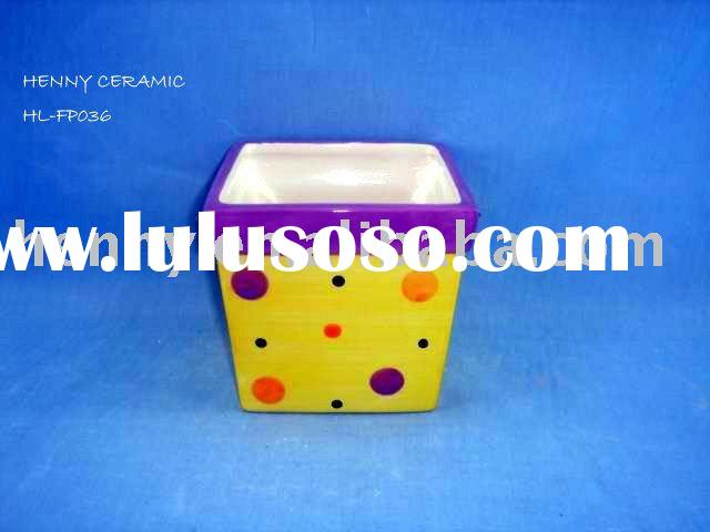Square Ceramic Flower Pot