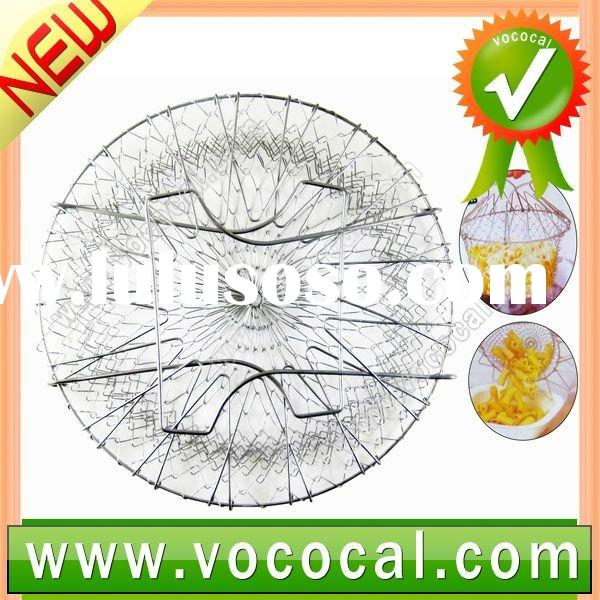 Stainless Steel Wire Mesh Kitchen Cooking Chef Basket