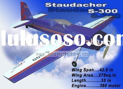 Staudacher S-300 rc airplane balsa-made battery power ARF radio control