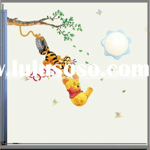 Tiger Pooh Pattern Wallpaper Graffiti Wall Home Decor Mural Decal Removable Sticker
