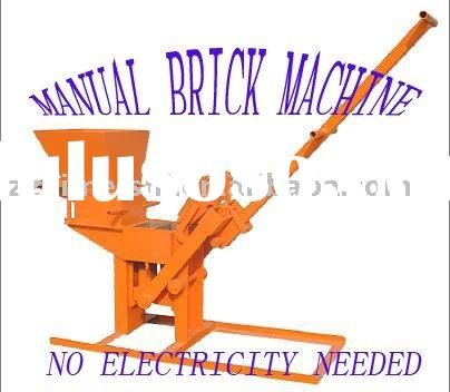 Total manual brick making machine--No power needed