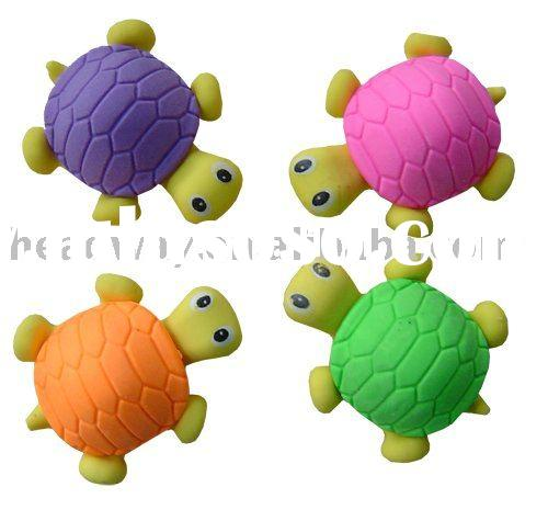 Turtle animal erasers
