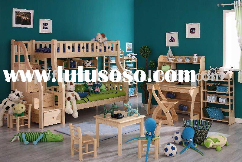 Twin over full wood bunk bed with storage stairs
