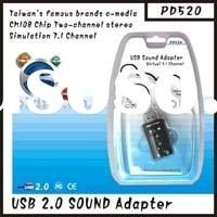 USB To Audio Virtual 7.1 Channel PD520 usb drive (usb to audio adapter/usb flash drive/bluetooth usb