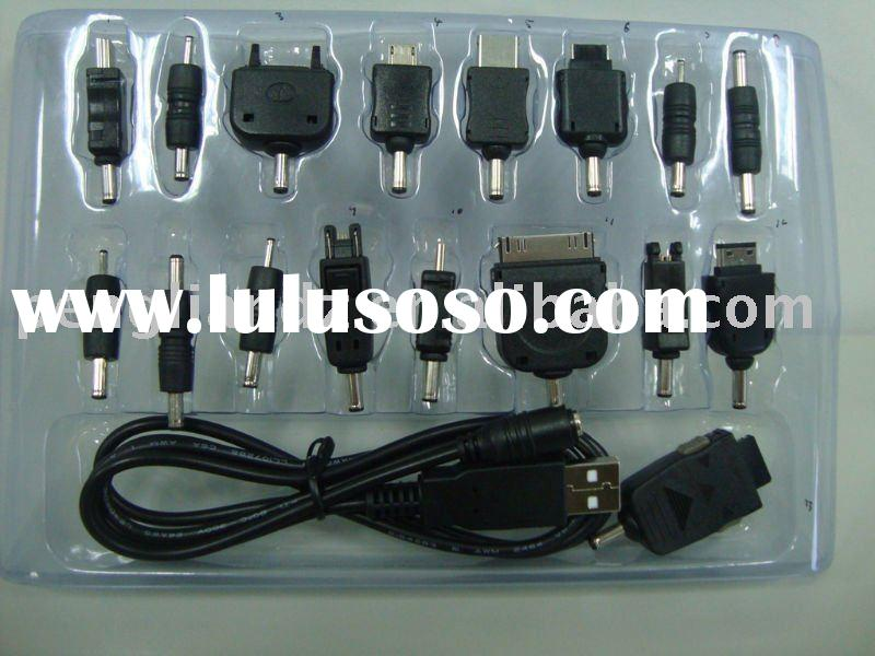 USB Universal mobile phone charger for 13kinds of mobile phone