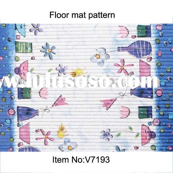 V7193 Custom made PVC Vinyl Floor Covering,floor rugs