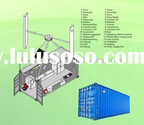 WT Wind Energy Container Solution/Vertical Axis Wind Turbine