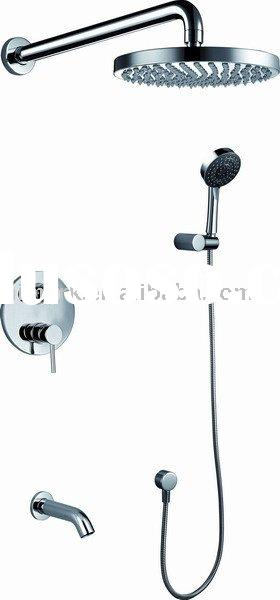Wall-mounted Single Lever Rain Shower & Bath Mixer (Three Function)