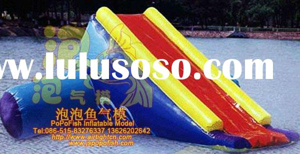 Water inflatable fitness equipment