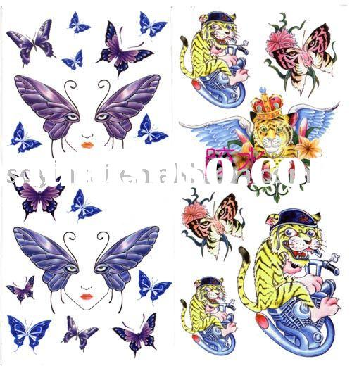 Water transfer temporary tattoo sticker printing ink & glue