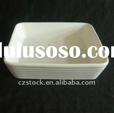 White Rectangular Baking Dish In Stock