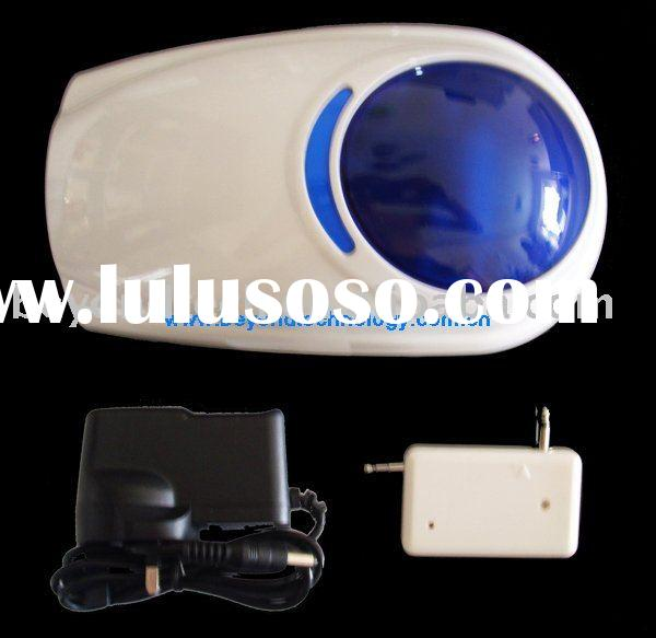Wireless or wired outdoor strobe alarm remote siren with flash