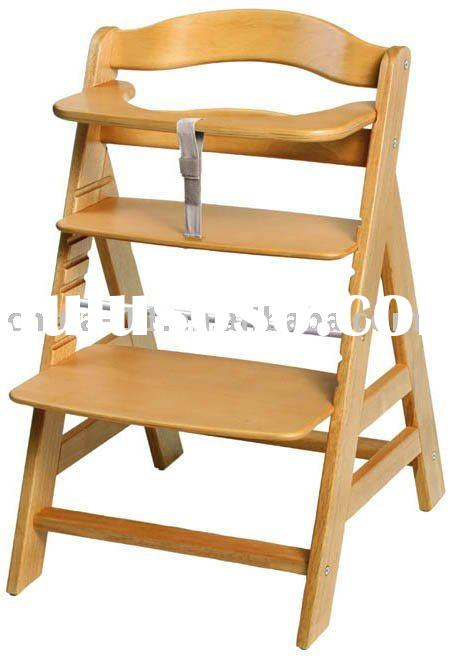 Wooden Baby Feeding Chair / High Chair