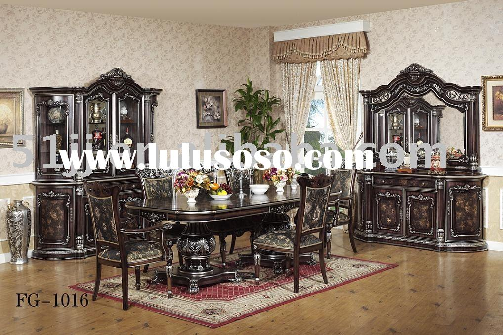 Wooden Middle-East Dining Room Furniture Set FG-1016