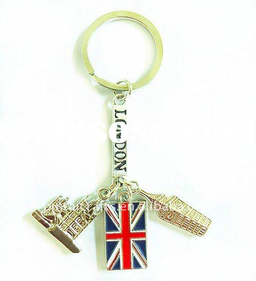 ZLD003 metal fashion key chains/2012 London Olympic souvenir keyrings/Promotional keychains/zinc all